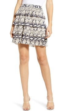 Endless Rose Snake-Print Ruffle Miniskirt - Product List Image