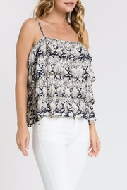Endless Rose Snake-Print Ruffle Top - Side cropped