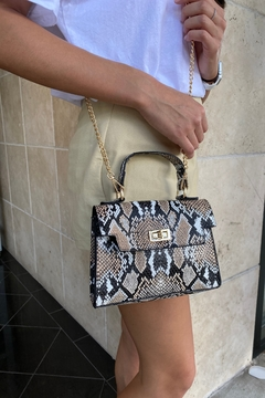 Handbag Express Snake Print Satchel Bag - Alternate List Image