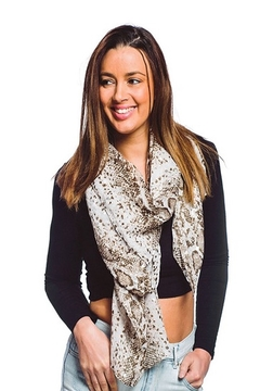 0-105 Snake Print Scarf - Alternate List Image