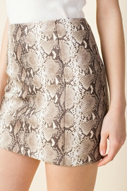 Wild Honey Snake Print Skirt - Product Mini Image