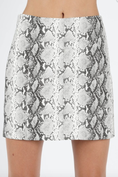 Honey Punch Snake Print Skirt - Alternate List Image