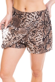 Renamed Clothing Snake Print Skort - Front cropped