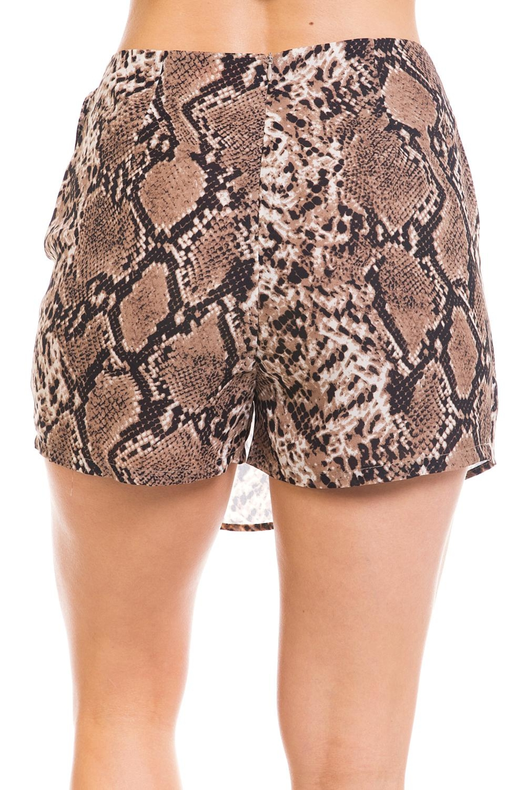 Renamed Clothing Snake Print Skort - Back Cropped Image