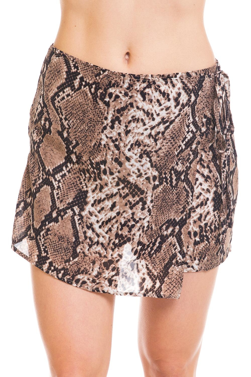 Renamed Clothing Snake Print Skort - Front Full Image