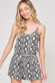 Fantastic Fawn  Snake Print Sleeveless Romper - Product Mini Image