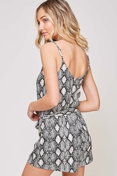 Fantastic Fawn  Snake Print Sleeveless Romper - Alternate List Image