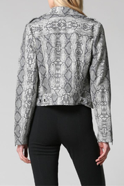 FATE by LFD Snake Print Sueded Moto Jacket - Front full body