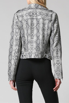 FATE by LFD Snake Print Sueded Moto Jacket - Alternate List Image