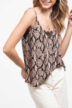 Blu Pepper Snake Print Tank - Product List Image