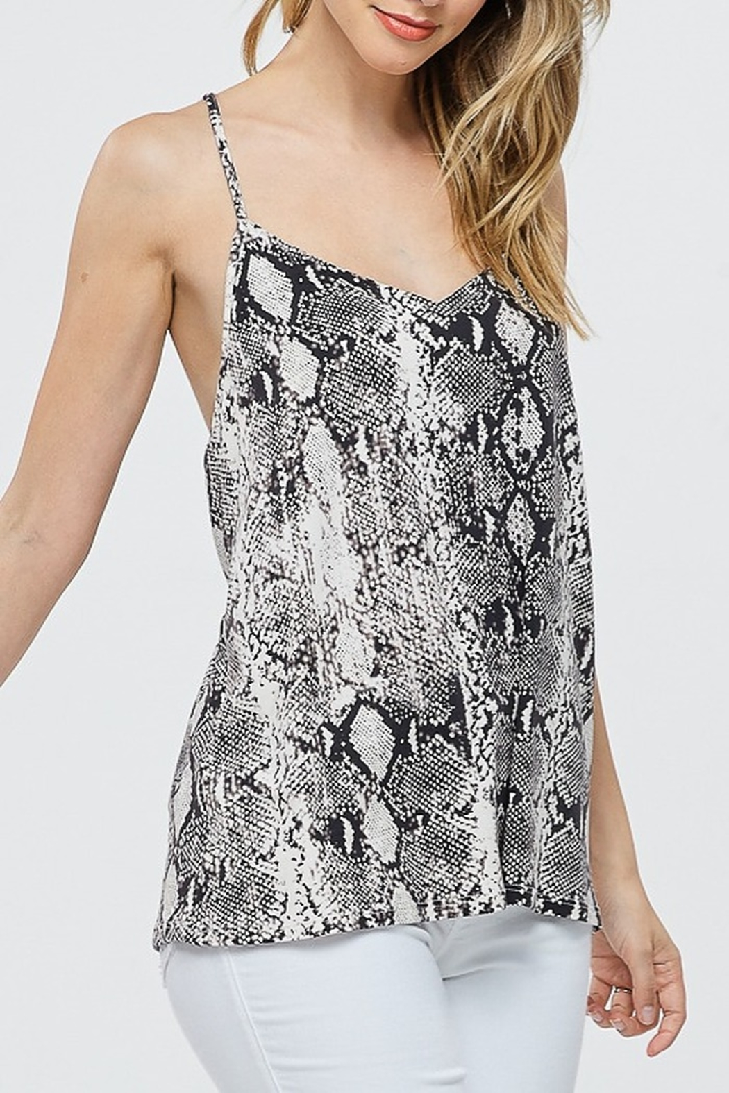Papermoon Snake Print Tank - Front Cropped Image
