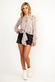 Olivaceous Snake Print Top - Side cropped