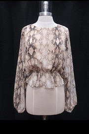 Olivaceous Snake Print Top - Product Mini Image