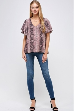 Caramela Snake Print Top - Alternate List Image