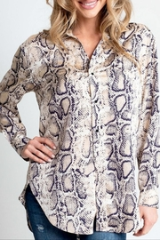 Glam Snake Print Top - Product Mini Image