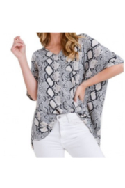 JODIFIL SNAKE PRINT TOP - Product Mini Image