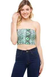 Better Be Snake-Print Tube Top - Front cropped