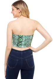 Better Be Snake-Print Tube Top - Side cropped