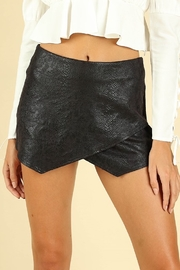 Honey Punch Snake Print Tulip Skort - Front full body