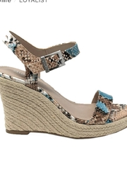 Charles David Snake Print Wedge Sandal - Front cropped