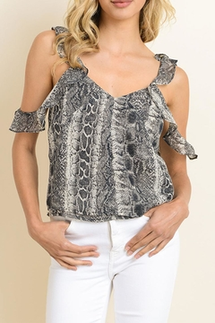 Shoptiques Product: Snake Ruffle Top