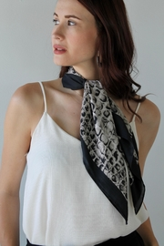 Ellison Snake Silky Scarf - Front cropped