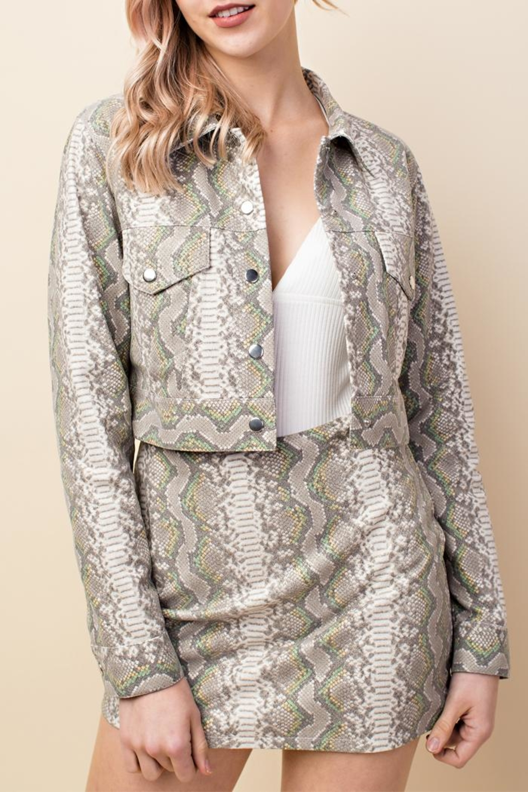 ba13084ae9e92 Honey Punch Snake Skin Jacket from New York by Luna — Shoptiques