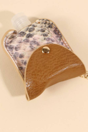 avenue zoe  Snake Skin Print Leather Mini Sanitizer Holder - Product Mini Image