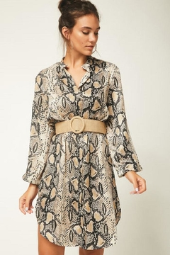 Urban Touch Snake Skin Shirtdress - Product List Image