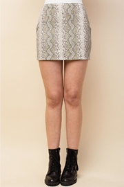 Honey Punch Snake Skin Skirt - Product Mini Image