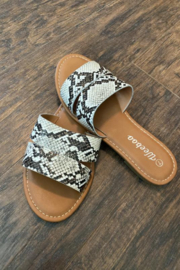 Kindred Mercantile Snakeskin Sandals - Front cropped
