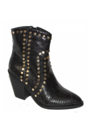 Dobbi Snake Skin Studded Bootie - Product Mini Image