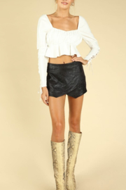 Wild Honey Snake Skin Tulip Skort - Product Mini Image