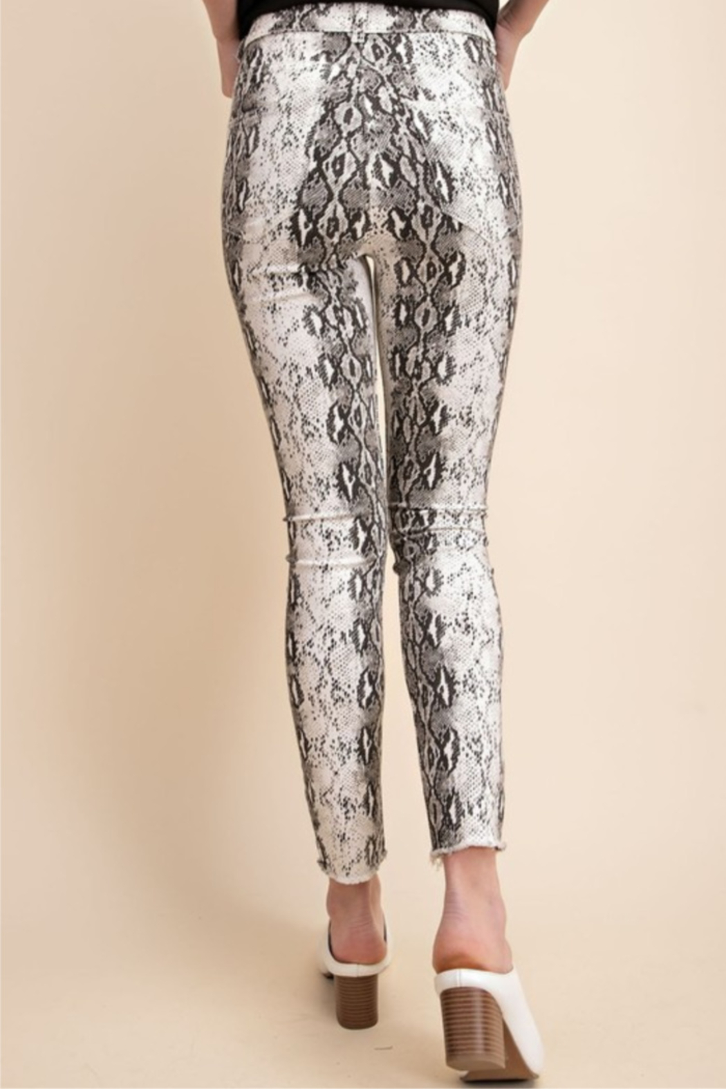 Mittoshop Snake Skinny Jeans - Front Full Image