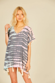 Surf Gypsy Snake Tie Dye Coverup - Front cropped
