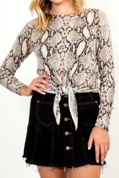 Shoptiques Product: Snake Tie Sweater