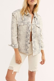 Free People Snake Trucker Jacket - Product Mini Image