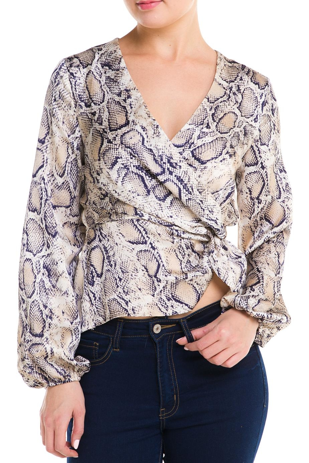 Idem Ditto  Snake Wrap Blouse - Main Image