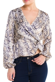 Idem Ditto  Snake Wrap Blouse - Product Mini Image