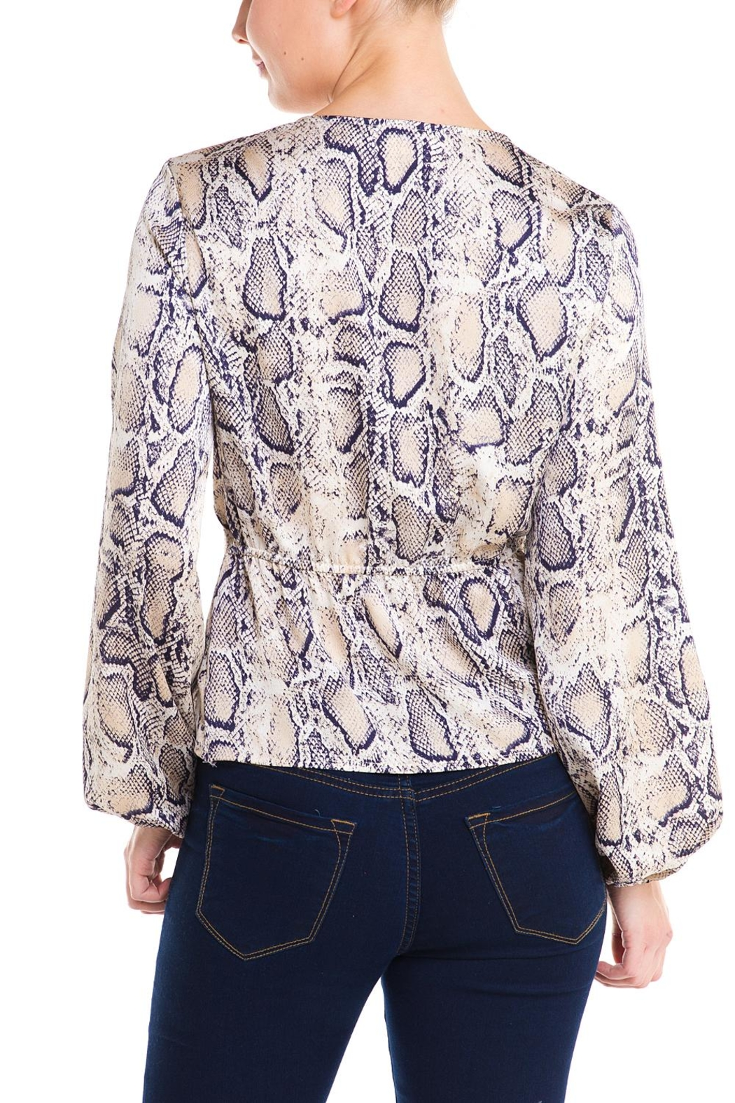 Idem Ditto  Snake Wrap Blouse - Back Cropped Image