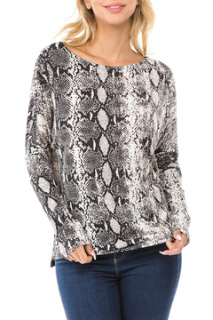 Ariella USA Snakeprint Lace-up back Knit Top - Product List Image