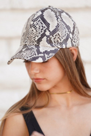 Olive & Pique Snakeskin Baseball Cap - Product Mini Image