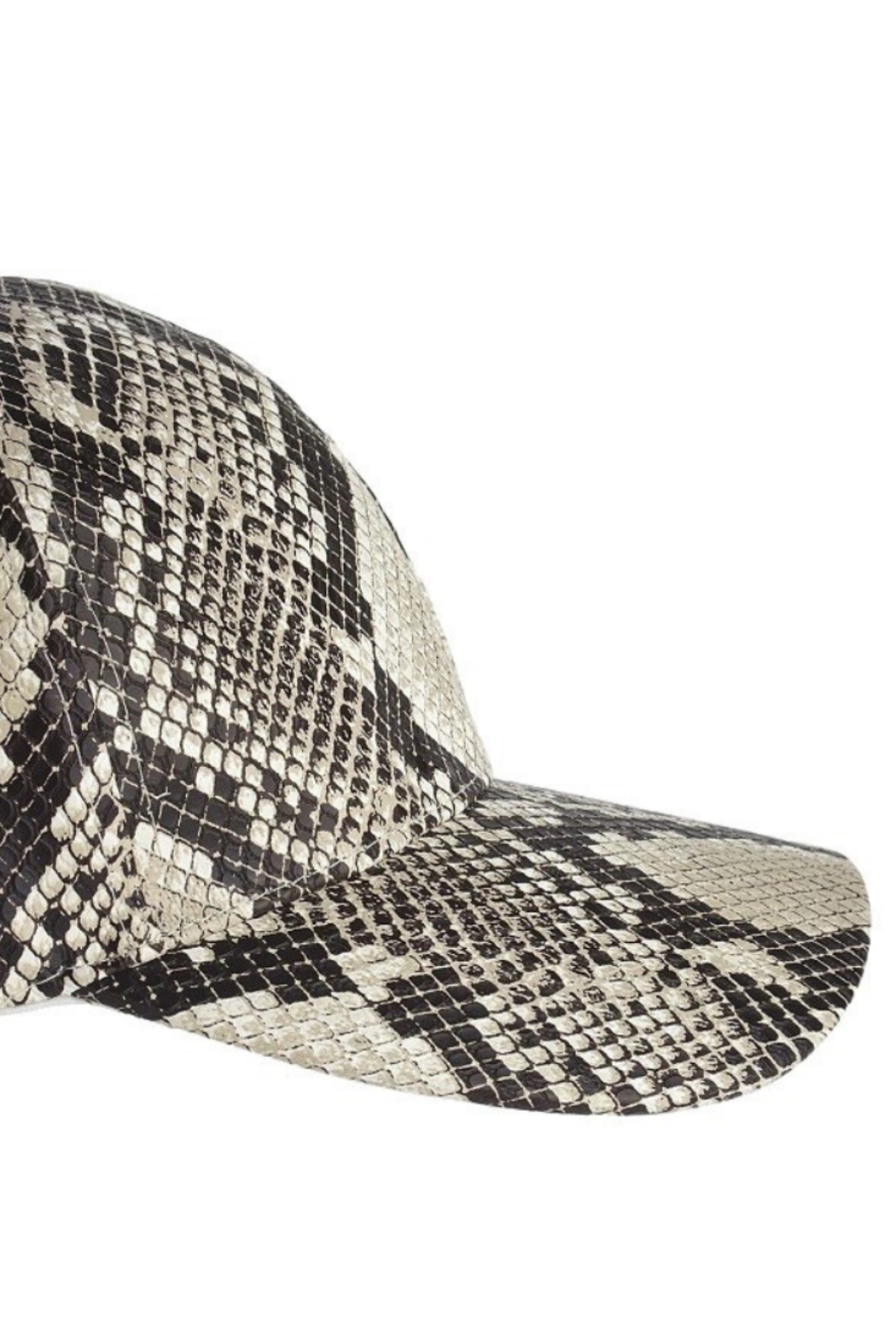 Olive & Pique Snakeskin Baseball Cap - Side Cropped Image