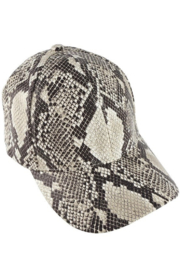Olive & Pique Snakeskin Baseball Cap - Back cropped