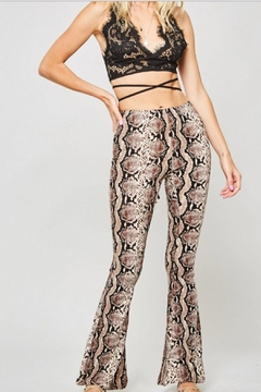 Shoptiques Product: Snakeskin Bell Bottoms