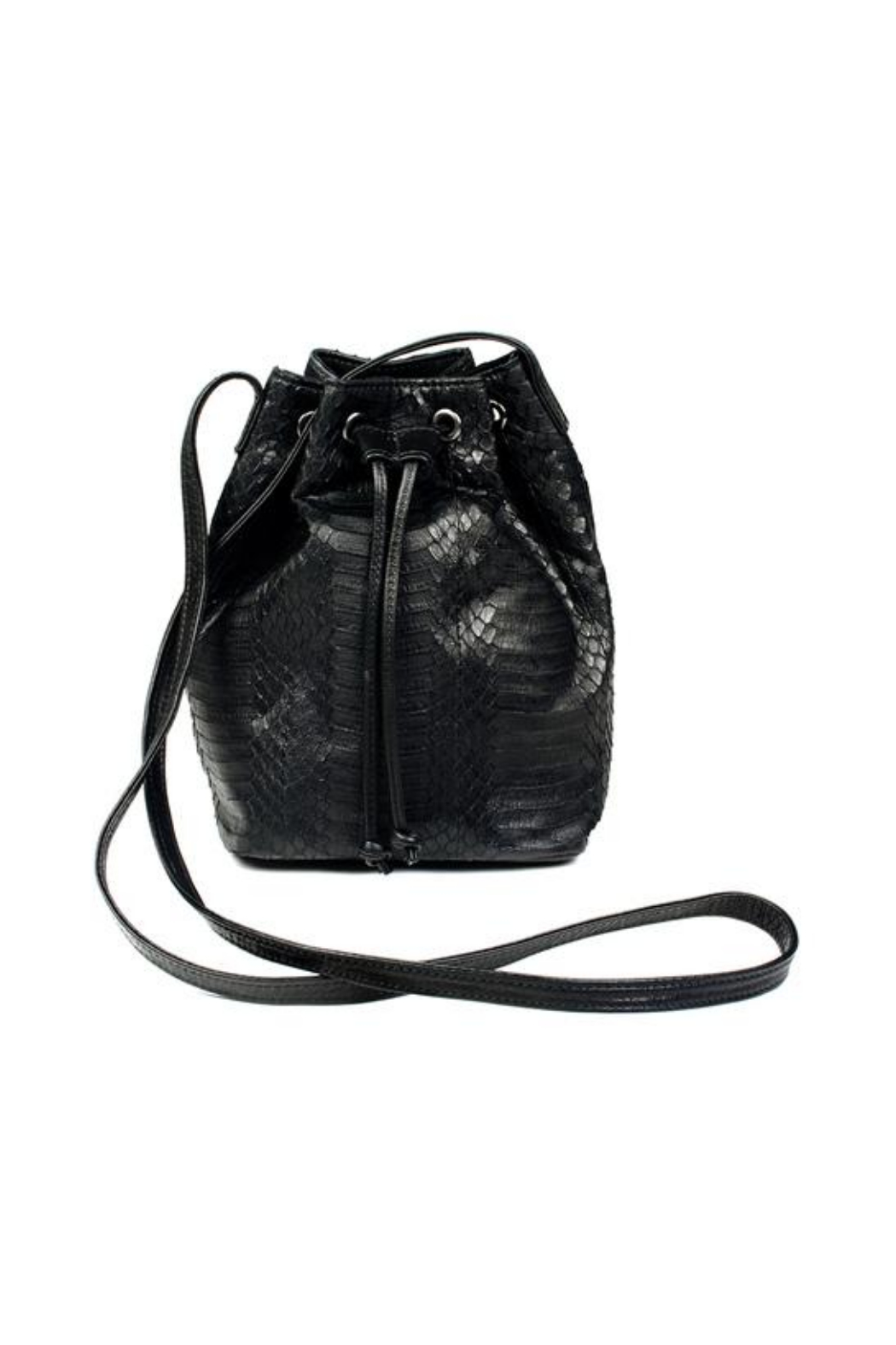 Deux Cuirs (C&C Creative) Snakeskin Bucket Bag - Front Cropped Image