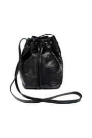 Deux Cuirs (C&C Creative) Snakeskin Bucket Bag - Front cropped