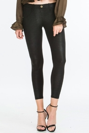 Olivaceous Snakeskin Button Legging - Product Mini Image