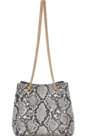 Bag Boutique Snakeskin Chain Purse - Product Mini Image