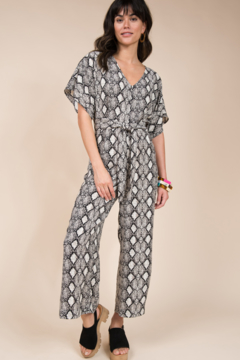 Ivy Jane  Snakeskin Cropped Jumpsuit - Product List Image